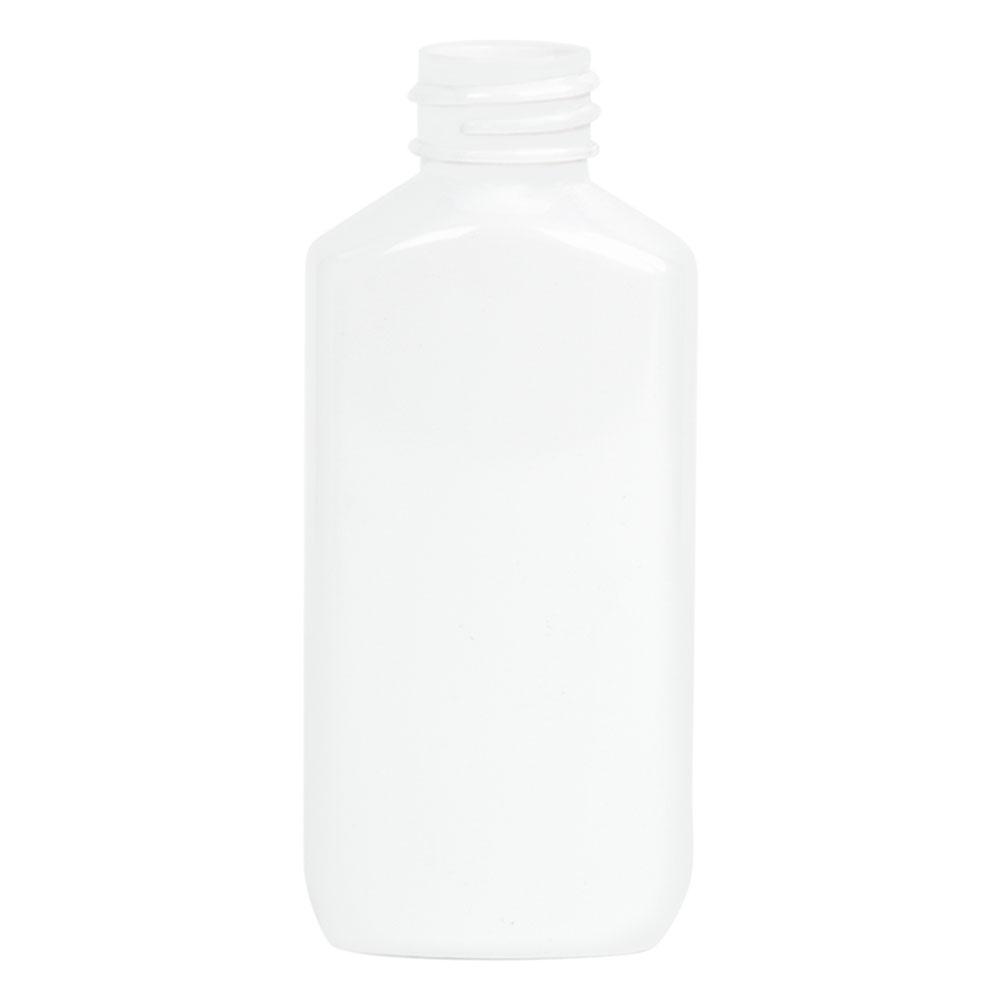 2 oz. White PET Drug Oblong Bottle with 20/410 Neck  (Cap Sold Separately)