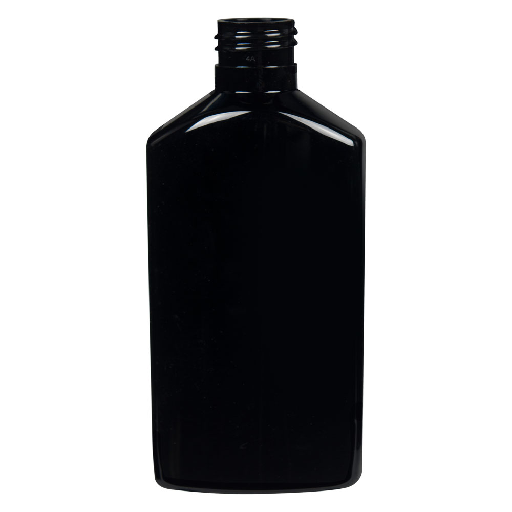 6 oz. Black PET Drug Oblong Bottle with 24/410 Neck  (Cap Sold Separately)