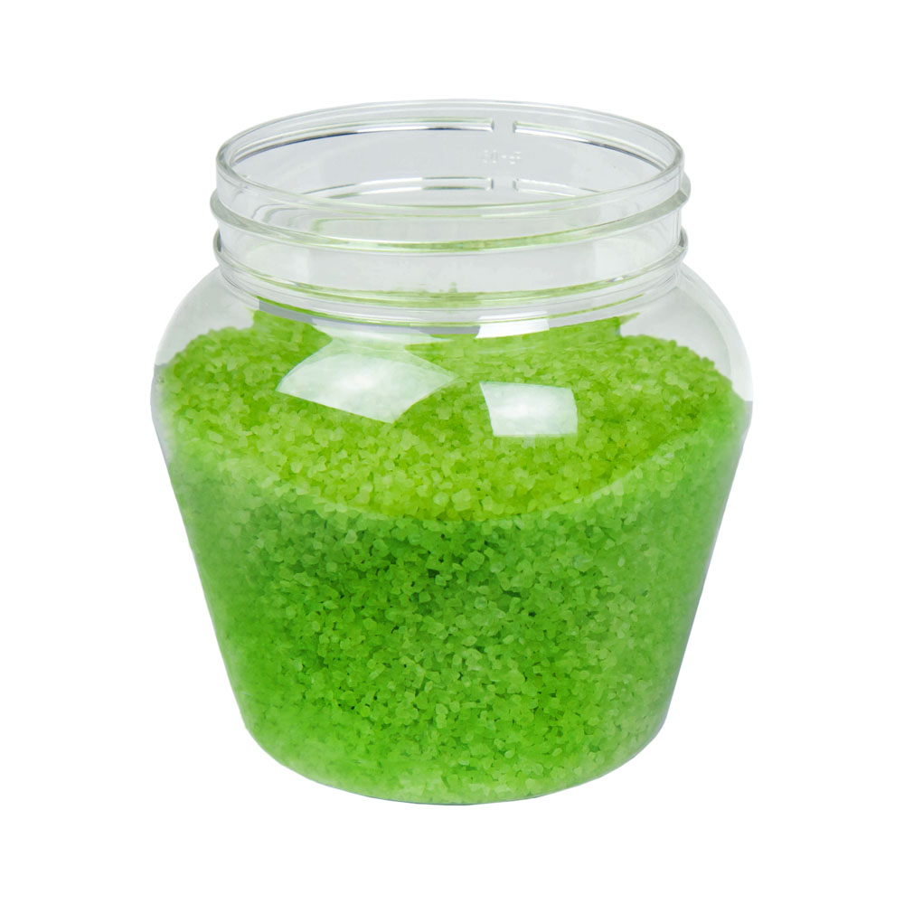 24 oz. Clear PET Apple Jar with 89mm Neck (Caps Sold Separately)