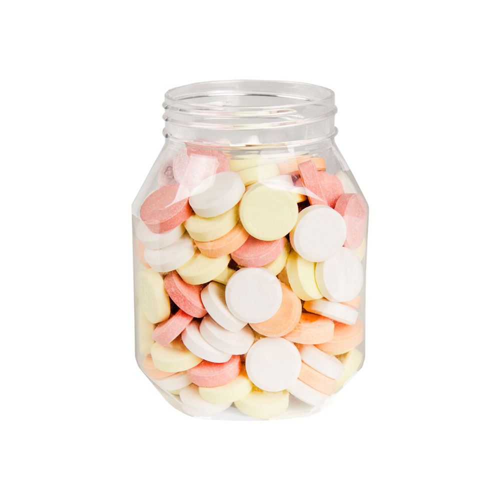 14 oz Clear PET Oval Jar with 63mm Neck (Cap Sold Separately)