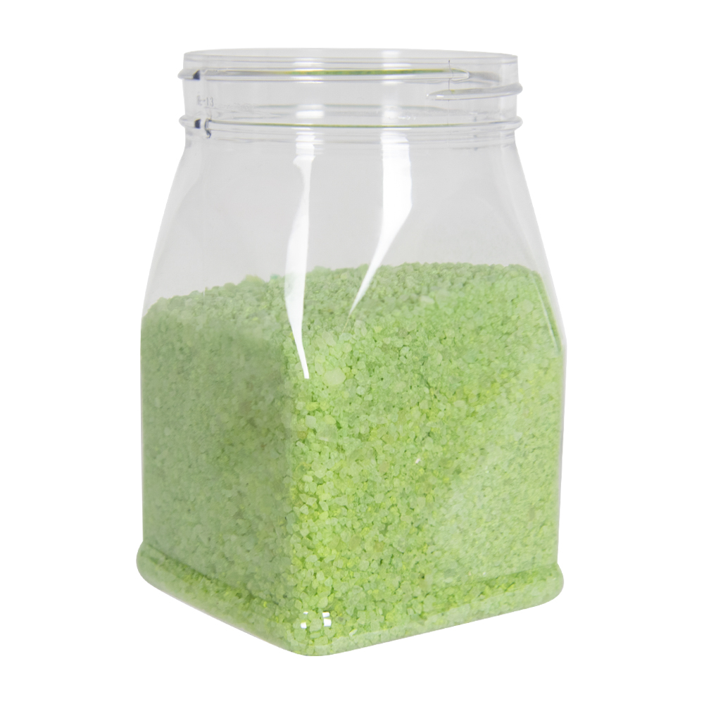 32 oz. Clear PET Square Jar with 89mm Neck  (Cap Sold Separately)