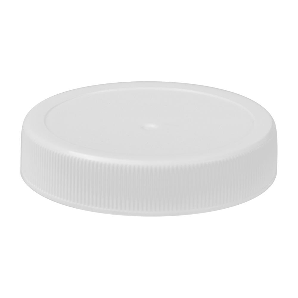 53/400 White Polypropylene Unlined Ribbed Cap