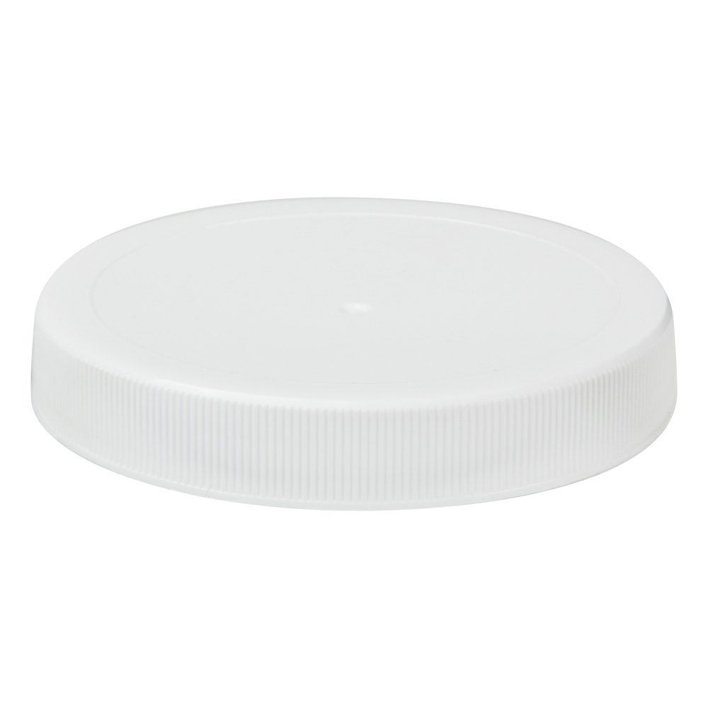 70/400 White Polypropylene Unlined Ribbed Cap