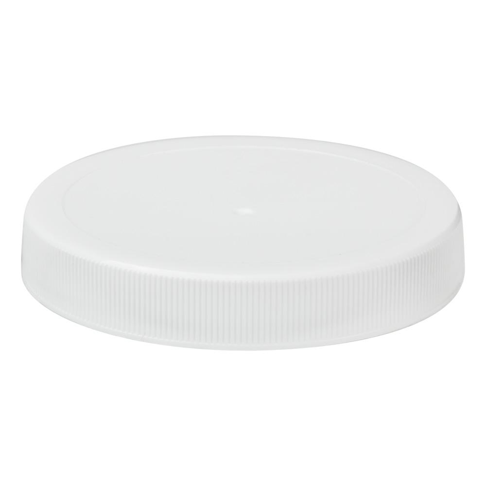 70/400 White Polypropylene Unlined Ribbed Cap