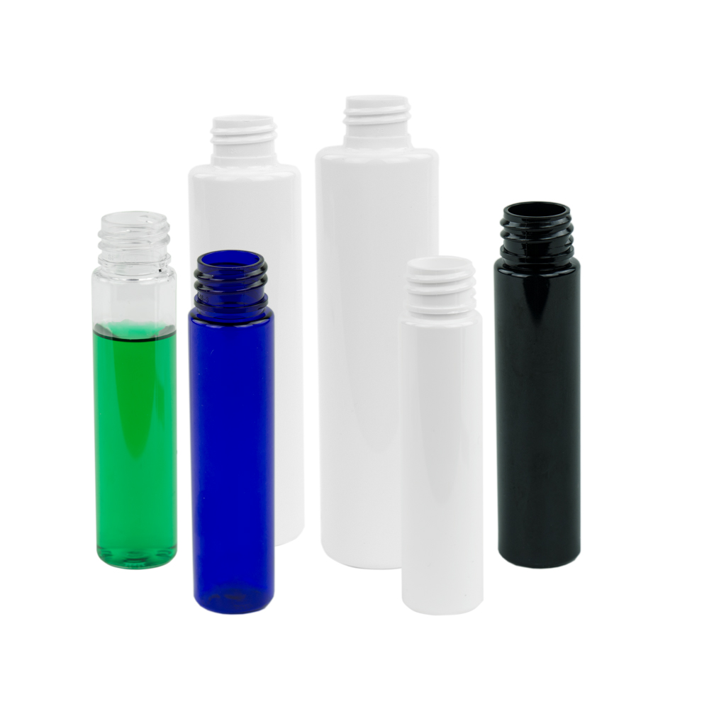 Colored PET Slim Cylinder Bottles