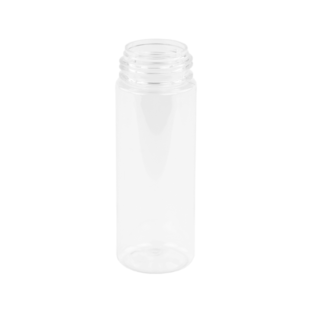 180mL Clear PET Foamer Style Cylinder Bottle with 43/400 Neck  (Pump Sold Separately)