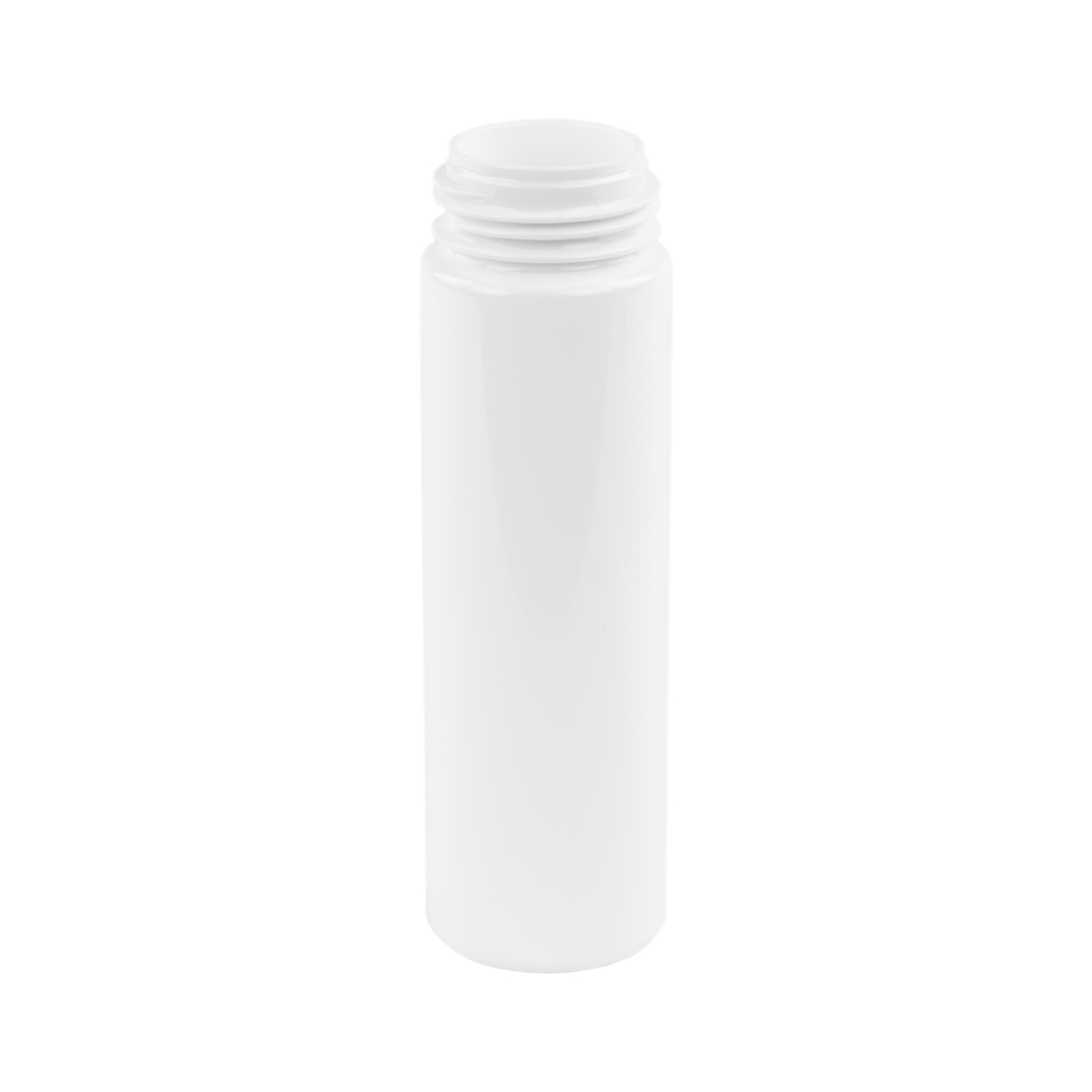 210mL White PET Foamer Style Cylinder Bottle with 43/400 Neck  (Pump Sold Separately)