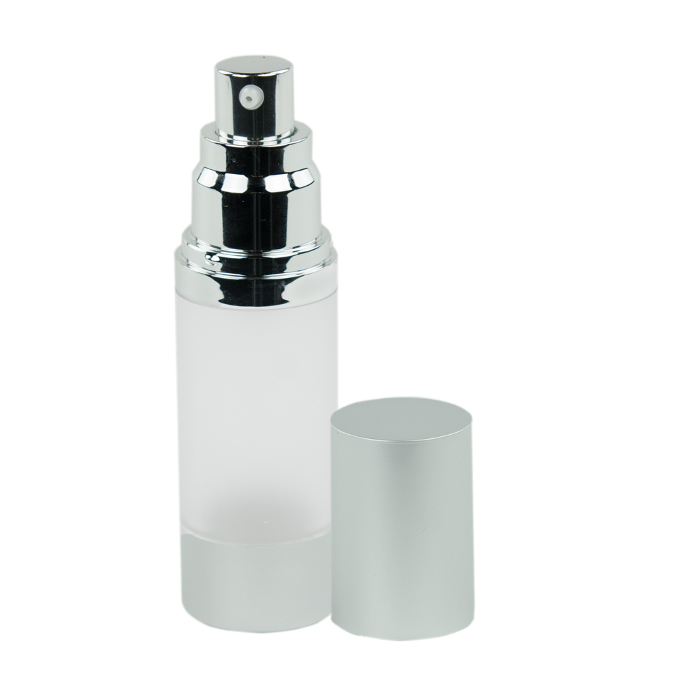 30mL Frosted/Brushed Aluminum Airless Bottle with Pump