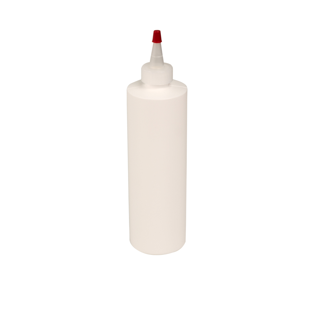 12 oz. White Cylindrical Sample Bottle with 24/410 Natural Yorker Cap