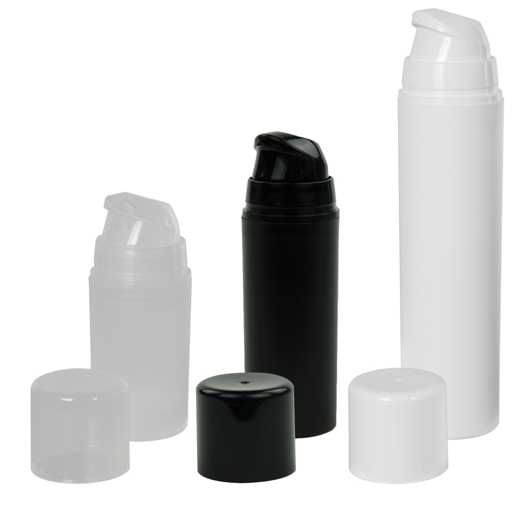 Mini Airless Dispensers with Caps