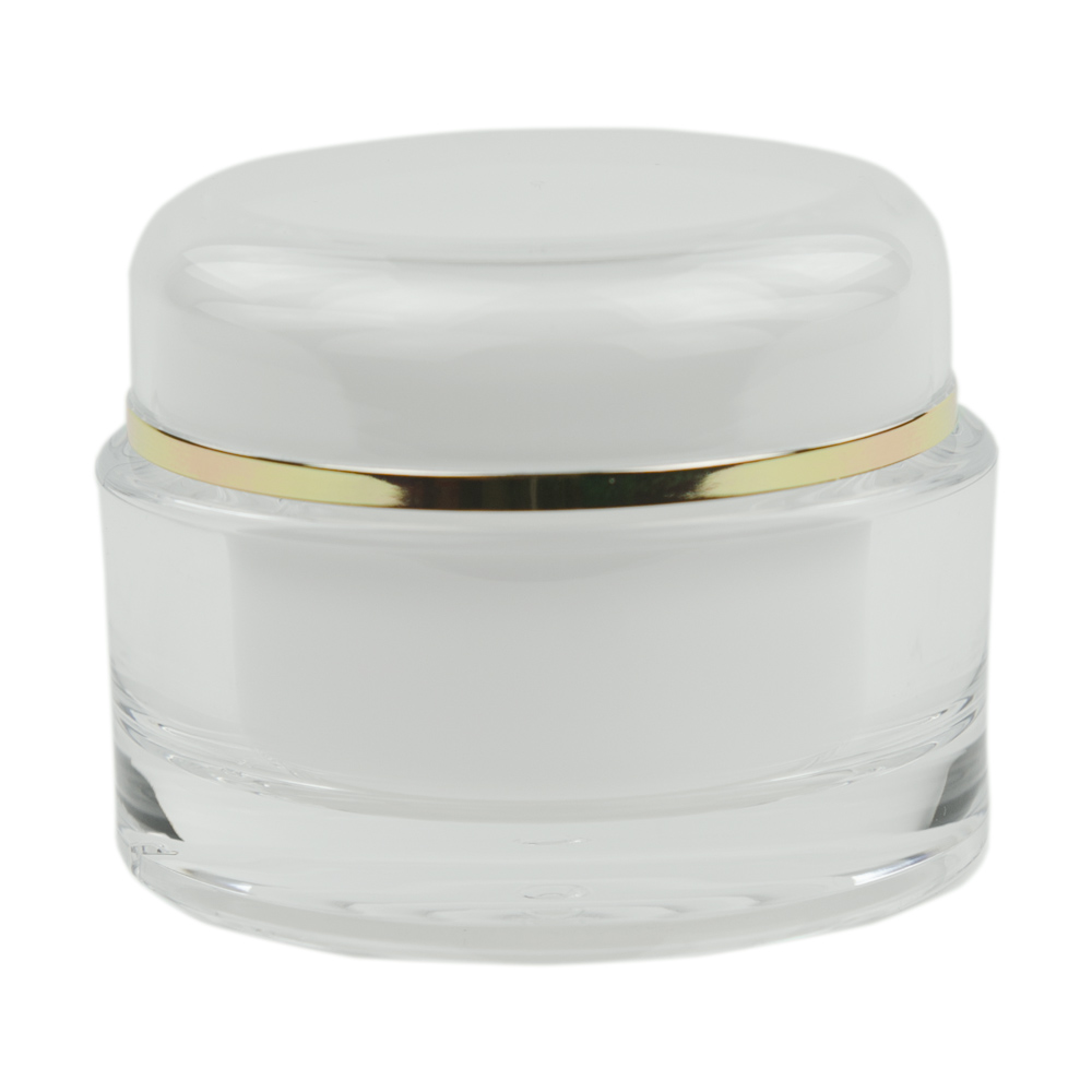 60mL Clear/Gold Acrylic Jar with Lined Cap
