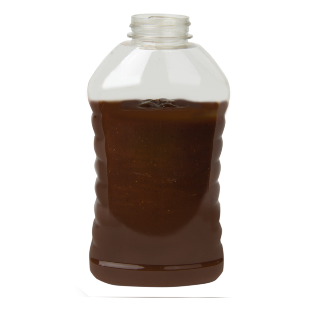 Ribbed Hourglass Sauce Bottle
