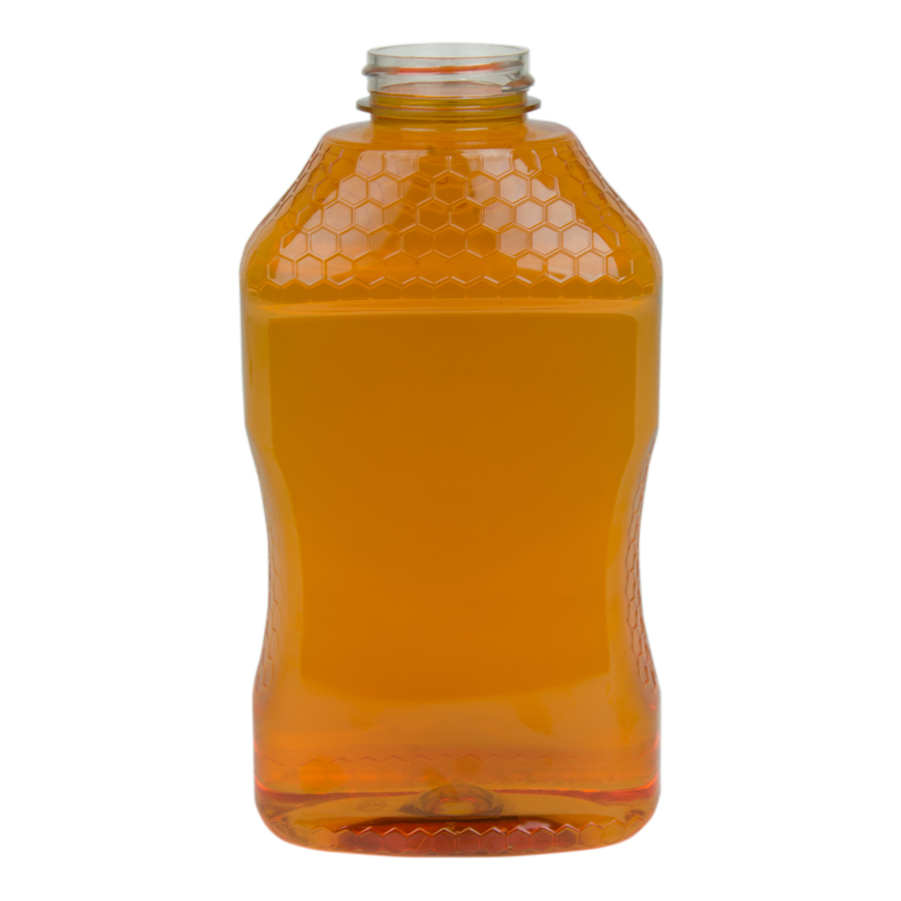 40 oz. PET Hourglass Grip Bottle with 38/400 Neck (Caps sold separately)