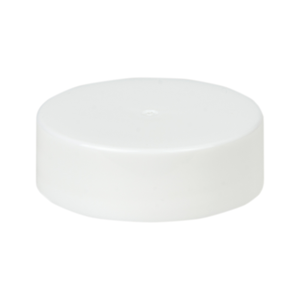 33/400 White Polypropylene Smooth Unlined Cap