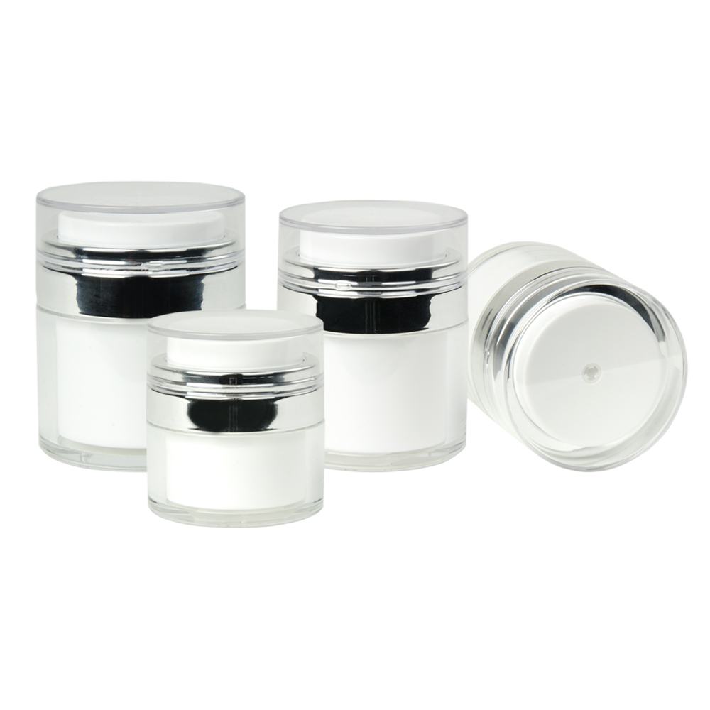 Airless Jars with Caps