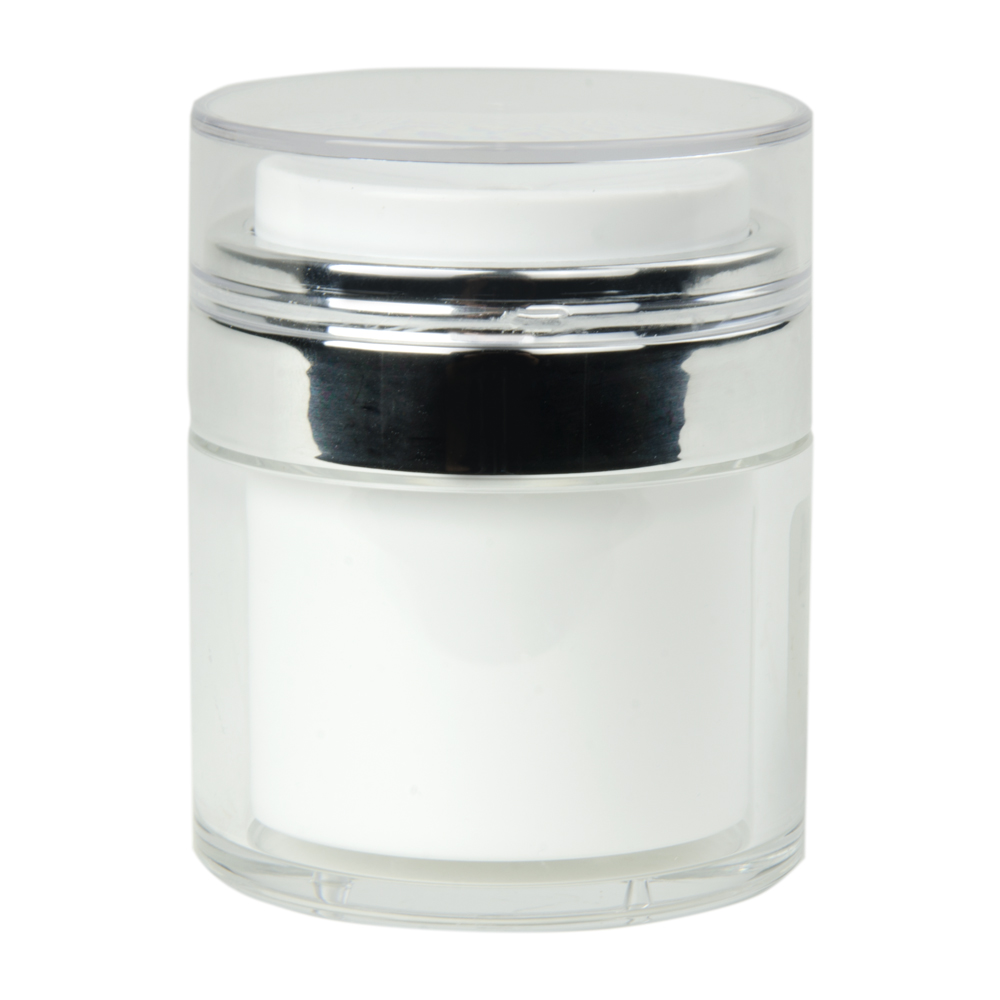50mL White Acrylic Airless Jar with Cap