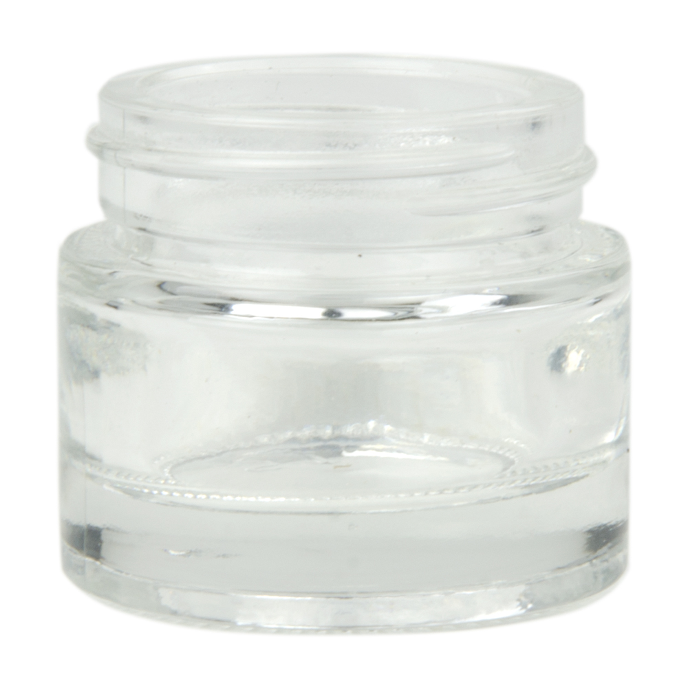 29-1/2mL Clear Glass Jar with 48/400 Neck (Caps sold separately)