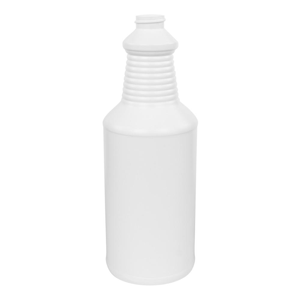 32 oz. White Decanter Spray Bottle with 28/410 Neck (Sprayers or Caps Sold Separately)