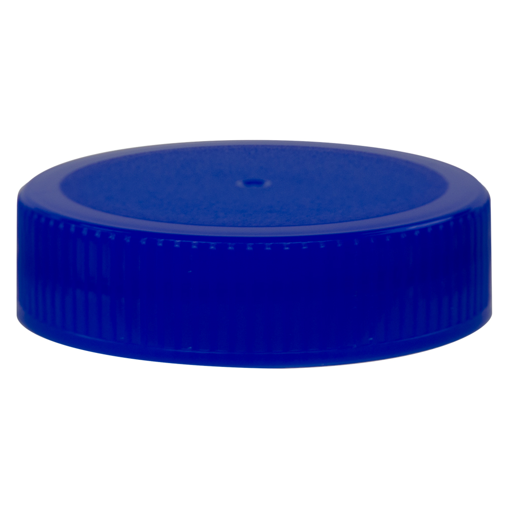 63/400 Blue Polypropylene Unlined Ribbed Cap