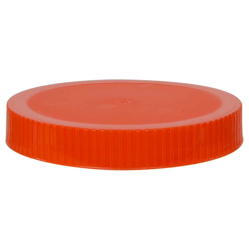 89/400 Orange Polypropylene Unlined Ribbed Cap