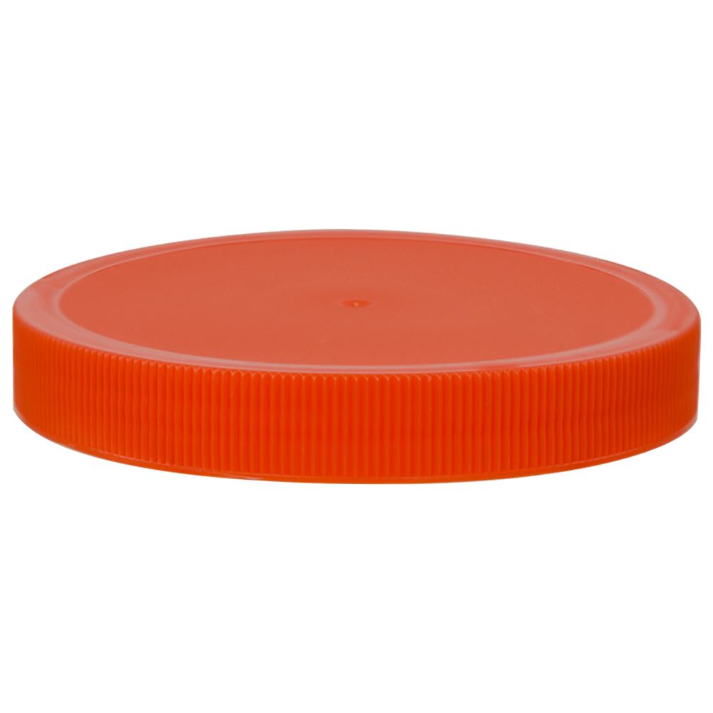 100/400 Orange Polypropylene Unlined Ribbed Cap
