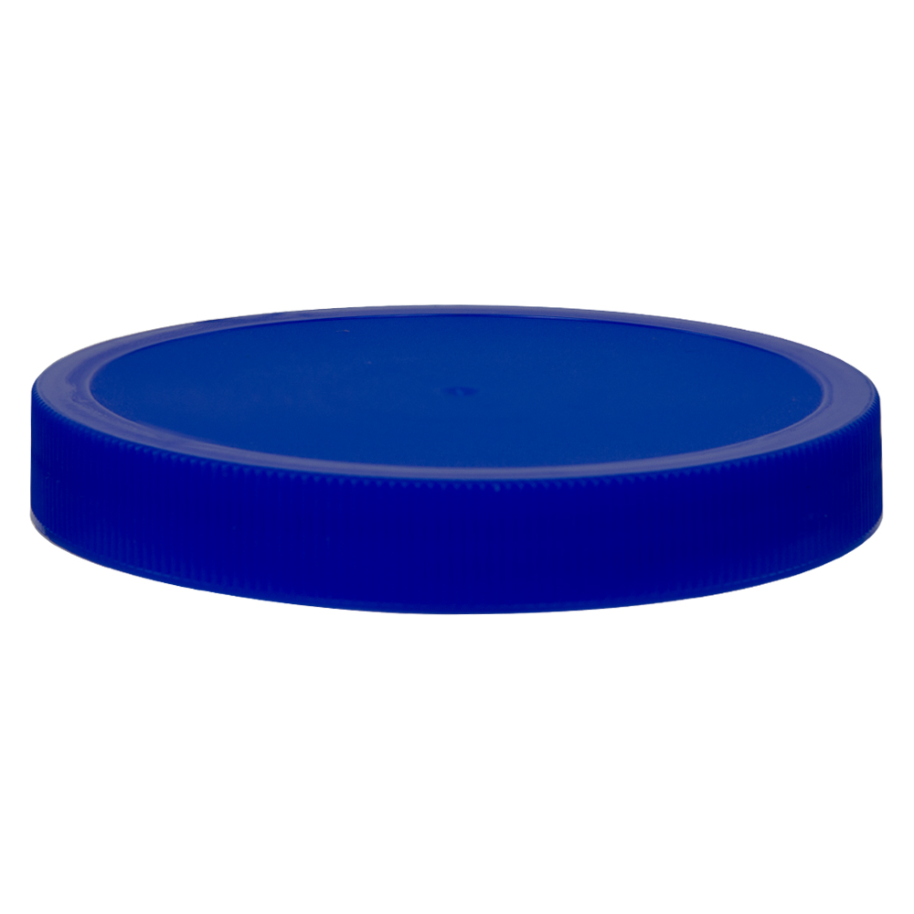100/400 Blue Polypropylene Unlined Ribbed Cap