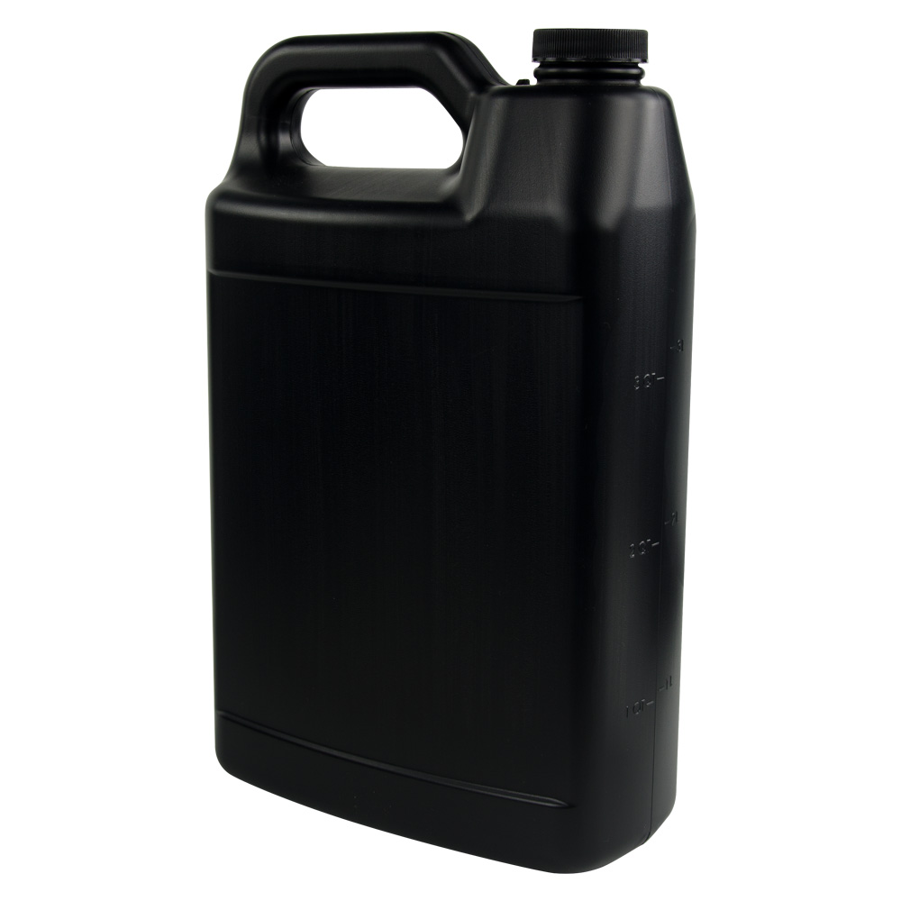 1 Gallon Black F-Style Jug with 38/400 Cap