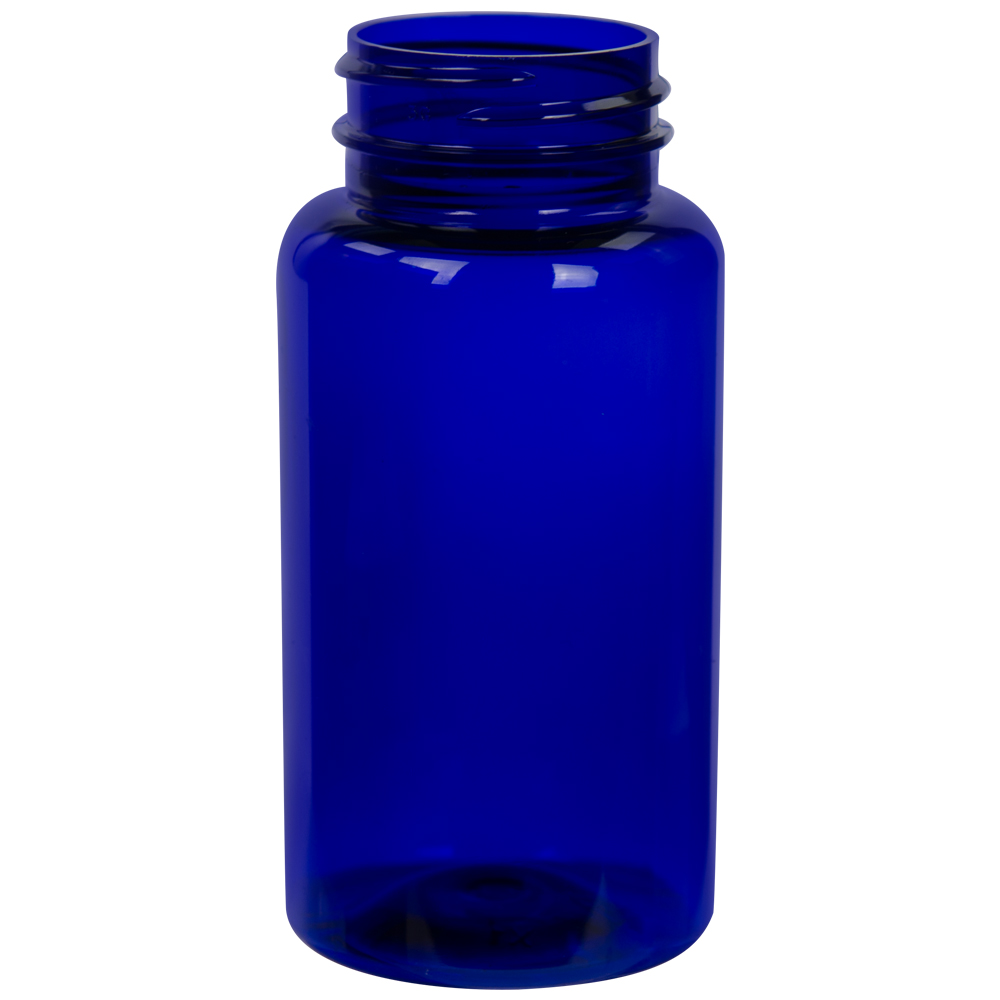 150cc Cobalt Blue PET Packer Bottle with 38/400 Neck (Cap Sold Separately)