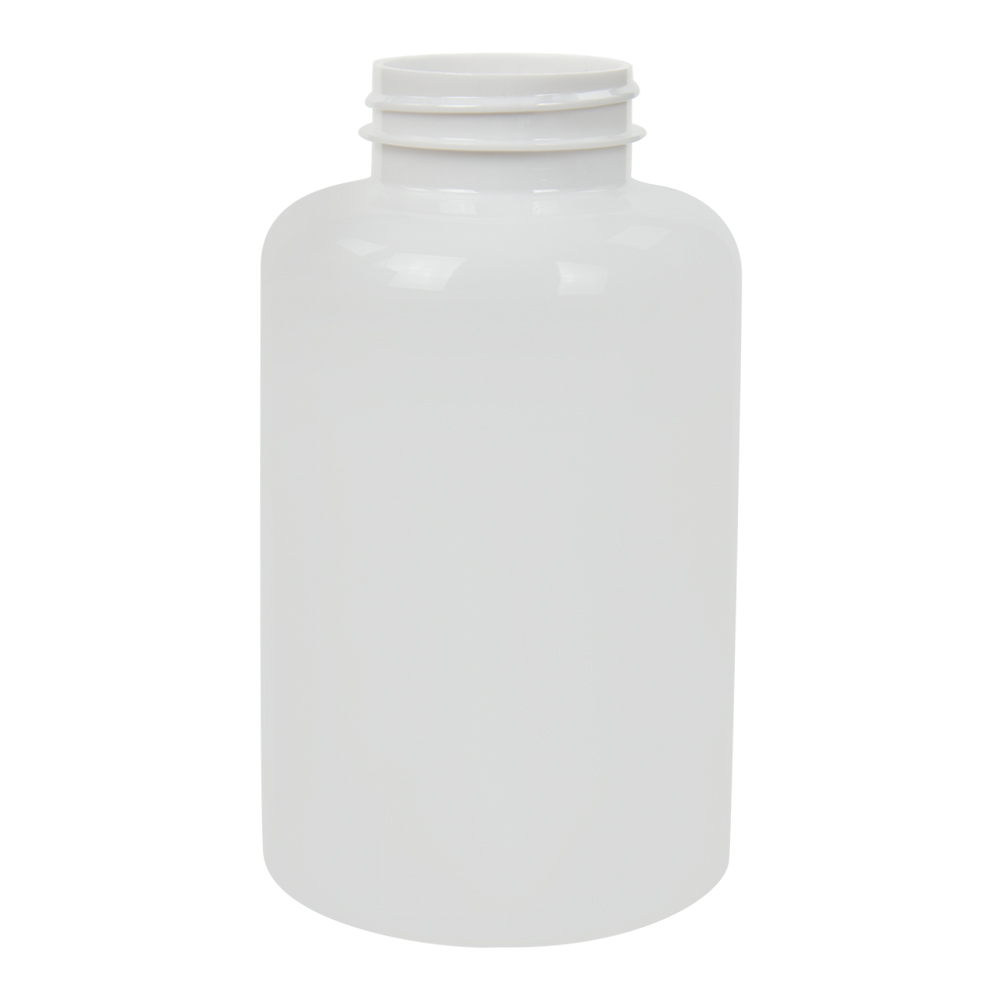 500cc White PET Packer Bottle with 45/400 Neck (Cap Sold Separately)