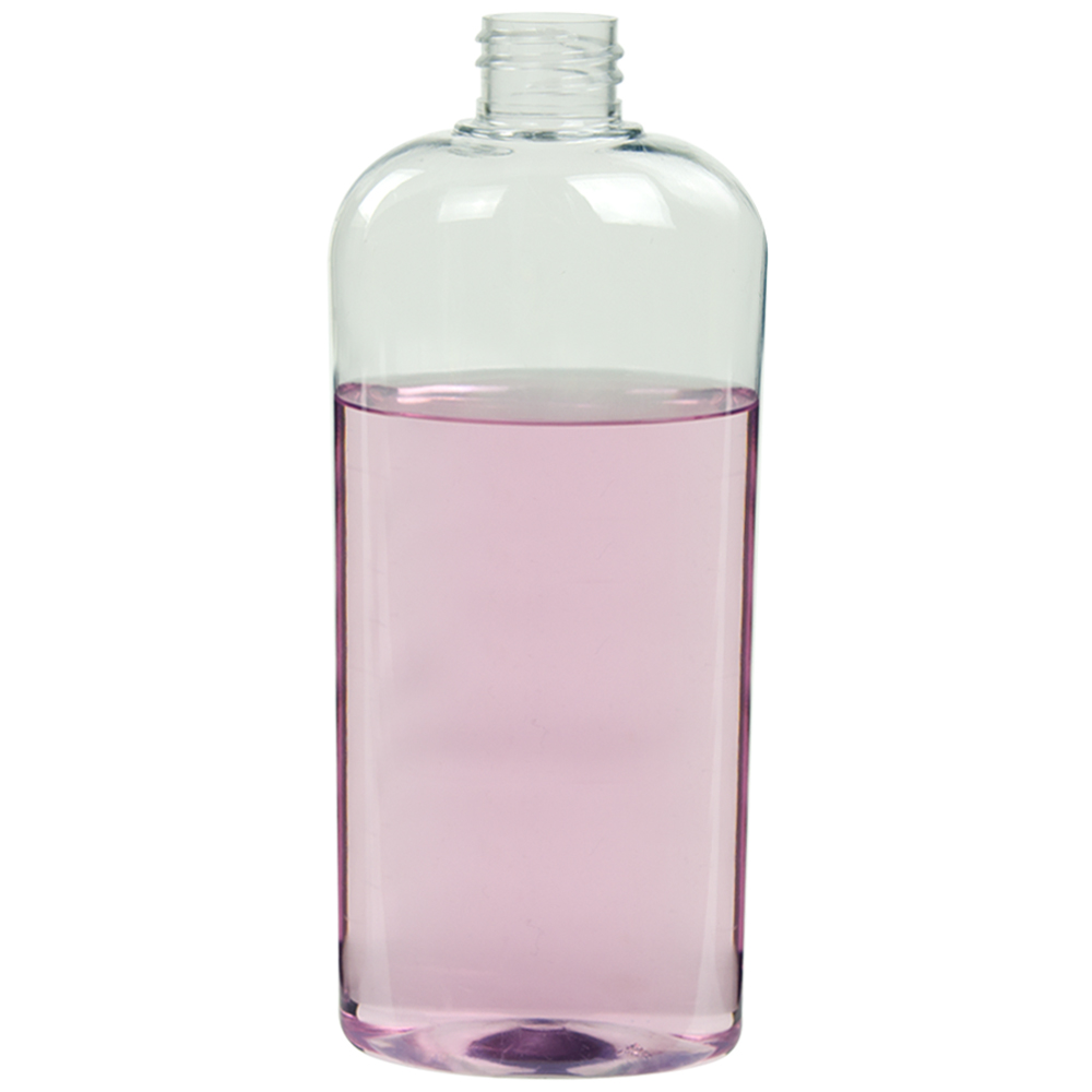 32 oz. Clear Vale High Clarity Oval Bottle with 28/415 Neck (Cap Sold Separately)
