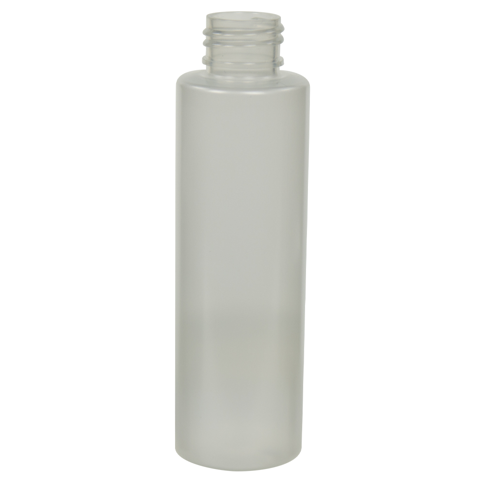 4 oz. Frosted Clear PET Cylinder Bottle with 24/410 Neck (Cap Sold Separately)