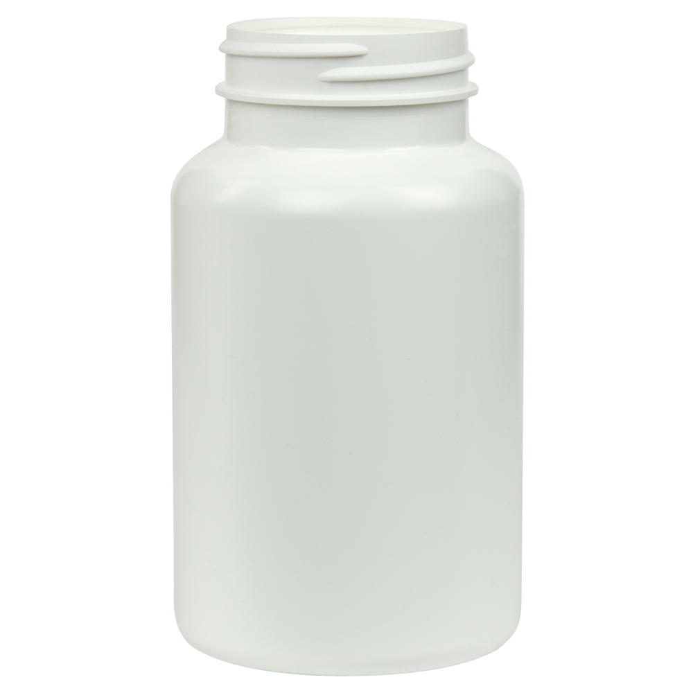 225cc/7.6 oz. HDPE Pharma Packer with 45/400 Neck (Cap Sold Separately)