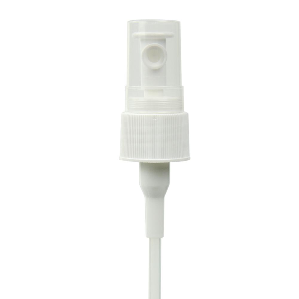 "24/410 White Finger Sprayer with 7.625"" Dip Tube & .3mL Output"