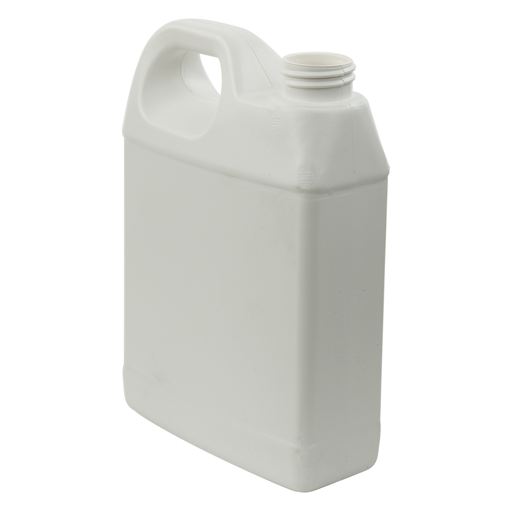 32 oz. White Fluorinated F-Style Jug with 33/400 Neck (Cap Sold Separately)