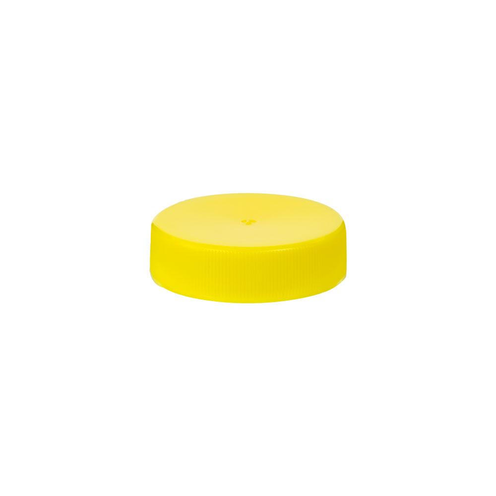 38/400 Yellow Polypropylene Unlined Ribbed Cap