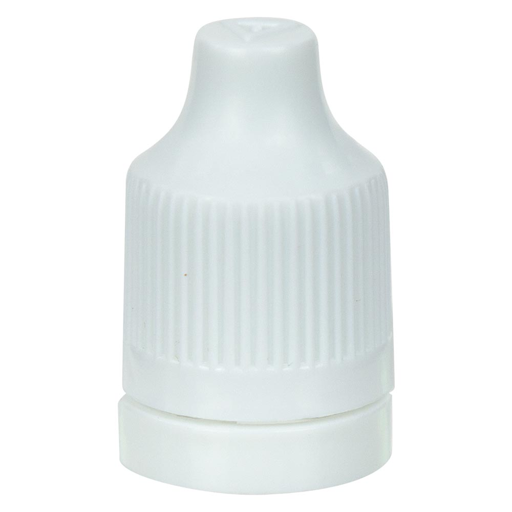 13/415 White CRC/TE Cap for 10mL and Larger E-Liquid Bottles