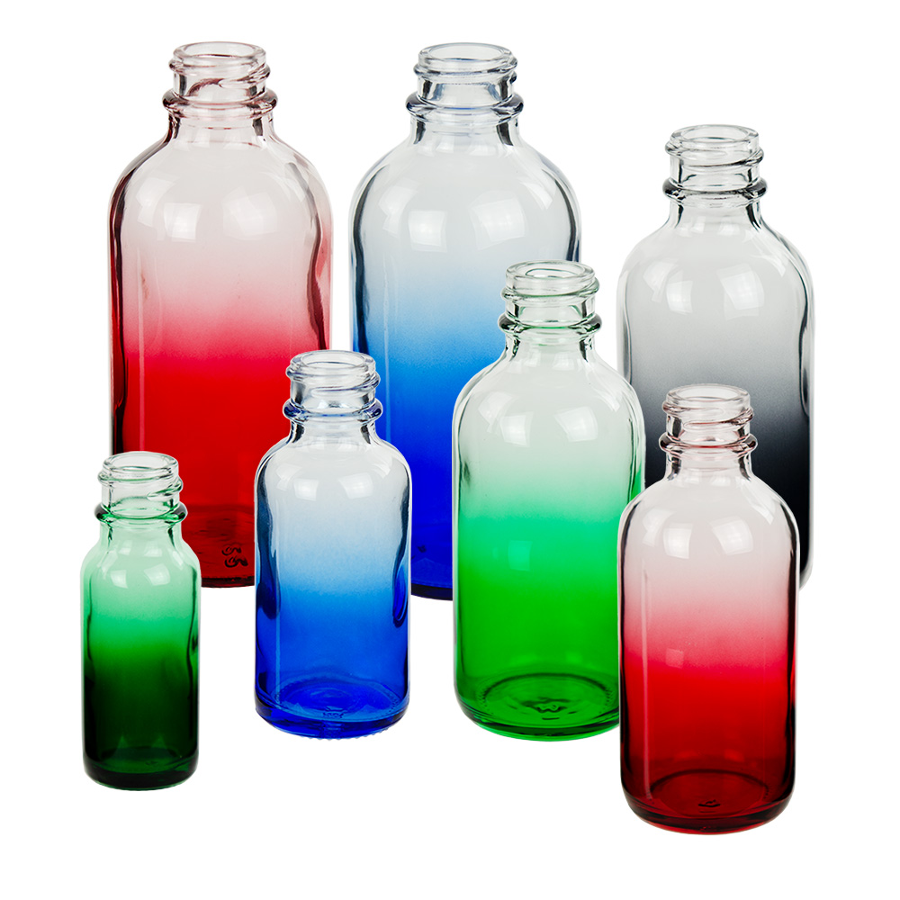 E-Liquid Boston Round Faded Glass Bottles