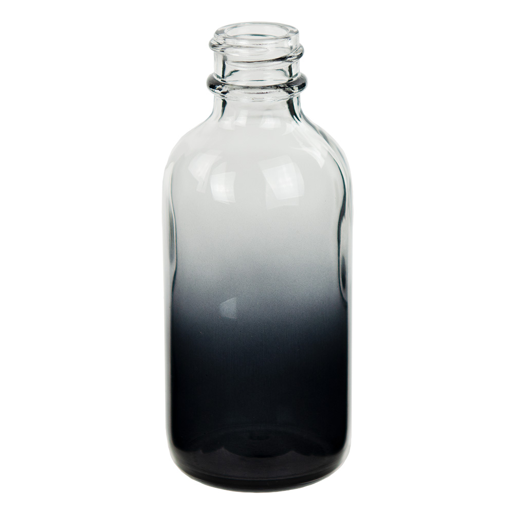 60mL Faded Black E-Liquid Boston Round Glass Bottle with 20/400 Neck (Cap Sold Separately)