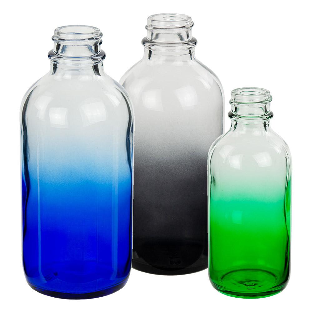E-Liquid Boston Round Faded Glass Bottles