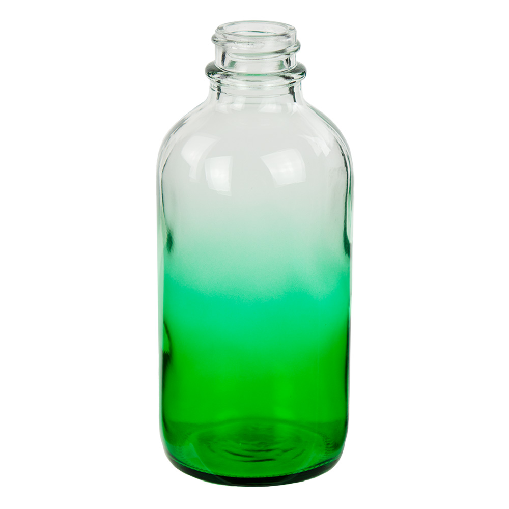 120mL Faded Green E-Liquid Boston Round Glass Bottle with 22/400 Neck (Cap Sold Separately)