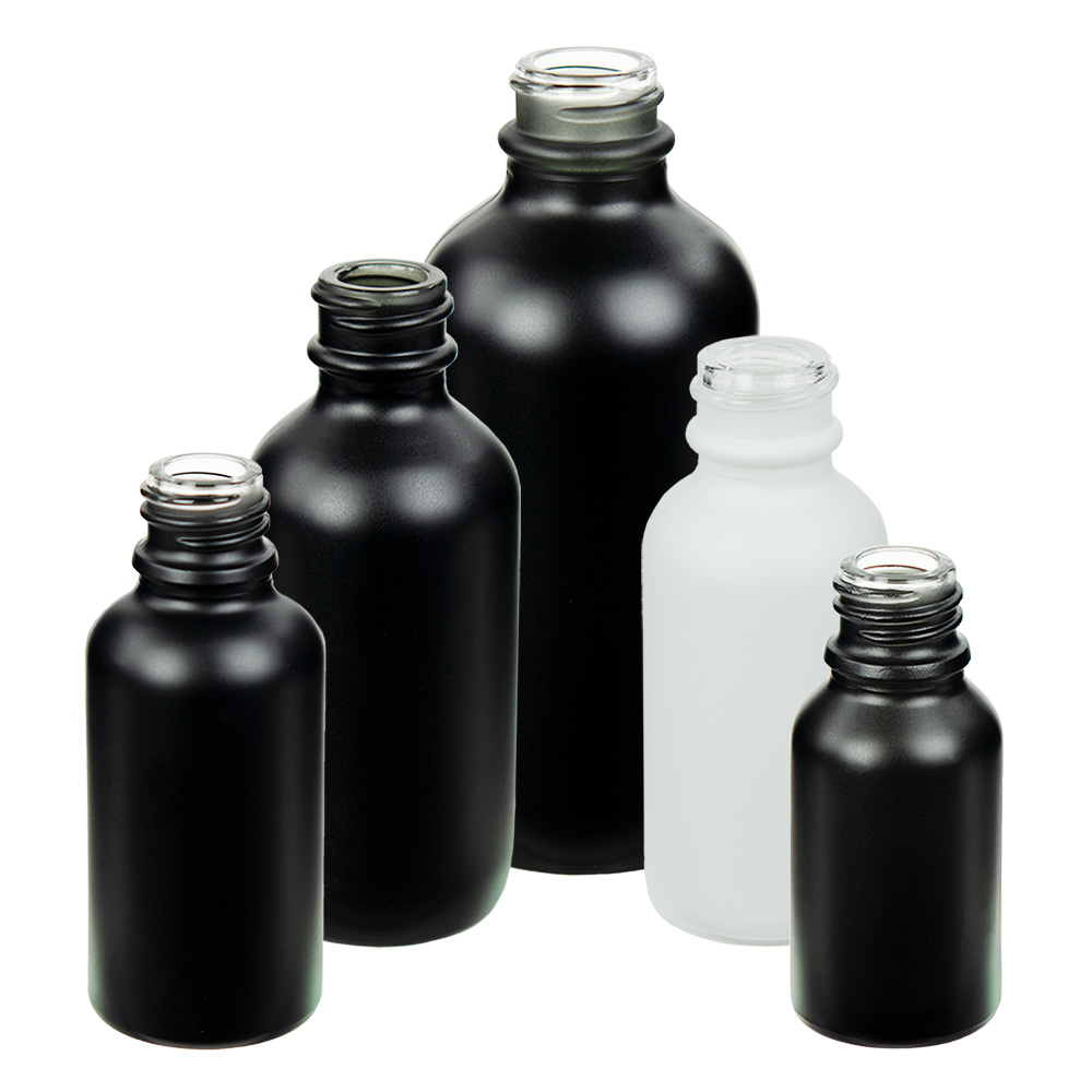 E-Liquid Boston Round Matte Glass Bottles | U.S. Plastic Corp.