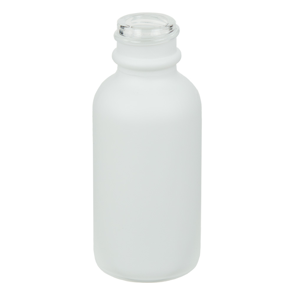 30mL Matte White E-Liquid Boston Round Glass Bottle with 20/400 Neck (Cap Sold Separately)