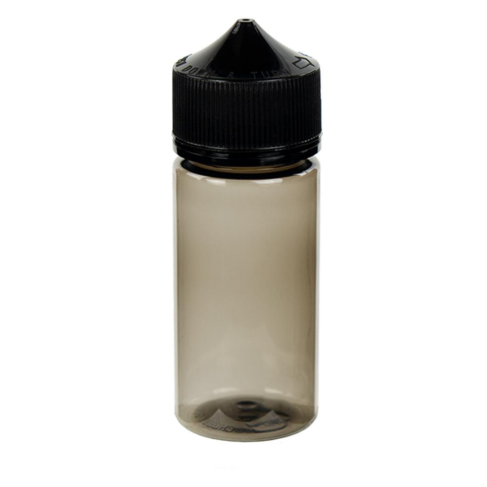 100mL Black PET Unicorn Bottle with Black CRC/TE Cap
