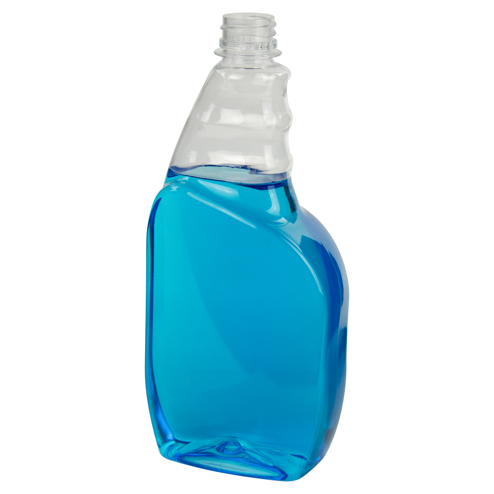 23 oz. PET Tremont Spray Bottle with 28/400 Ratchet Neck (Sprayer Sold Separately)