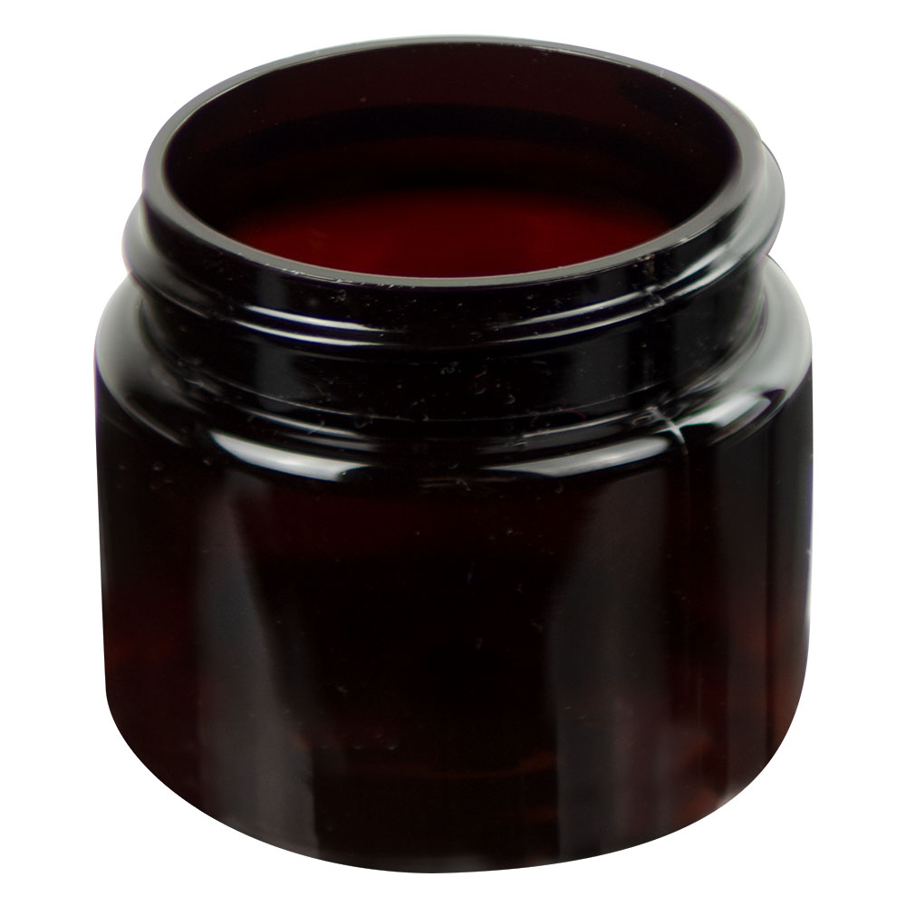 1 oz. Amber PET Straight Sided Jar with 38/400 Neck (Cap Sold Separately)