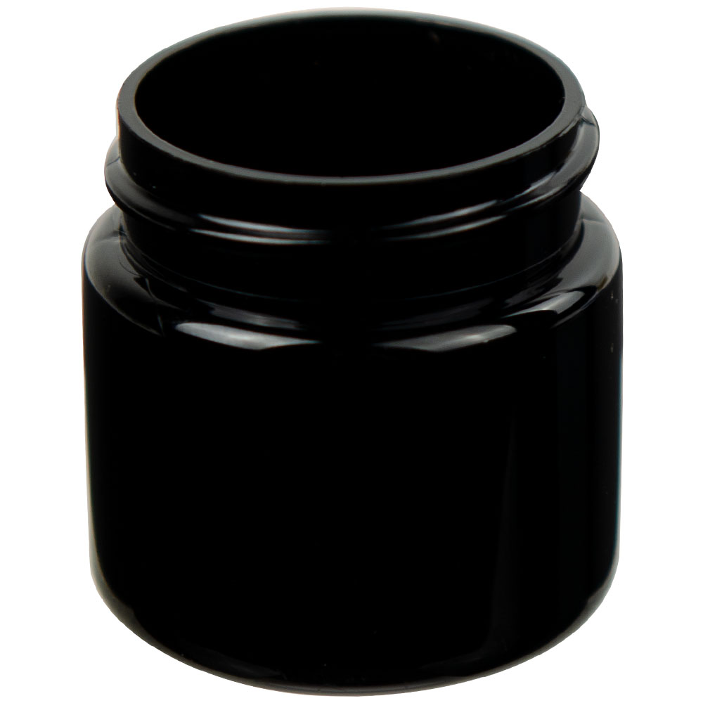 1 oz. Black PET Jar with 38/400 Neck (Cap Sold Separately)