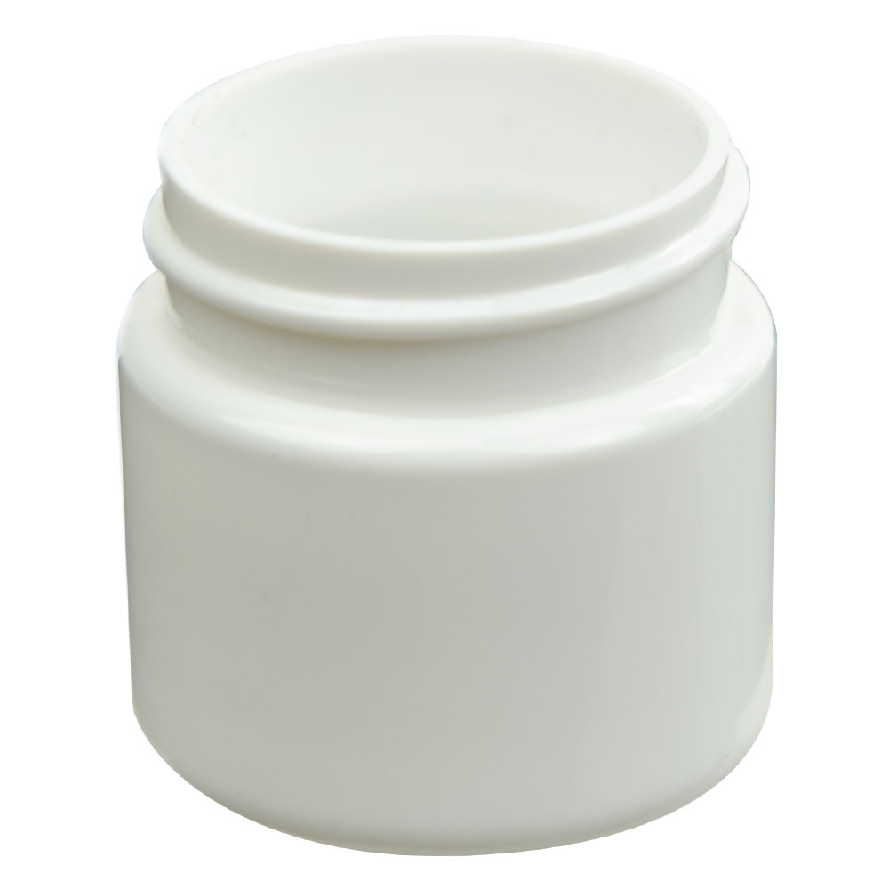 1 oz. White PET Straight Sided Jar with 38/400 Neck (Cap Sold Separately)