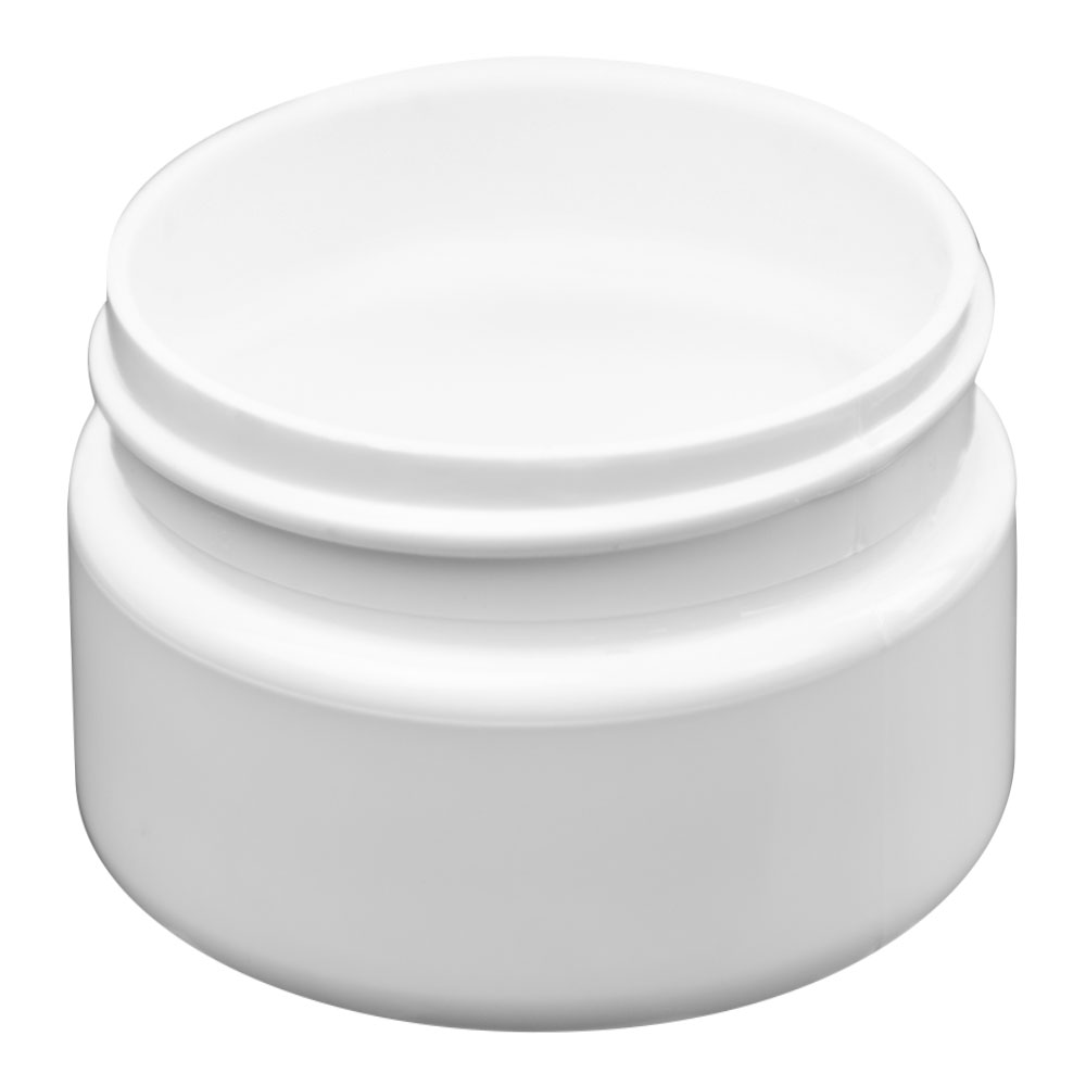 3 oz. White PET Straight Sided Jar with 58/400 Neck (Cap Sold Separately)