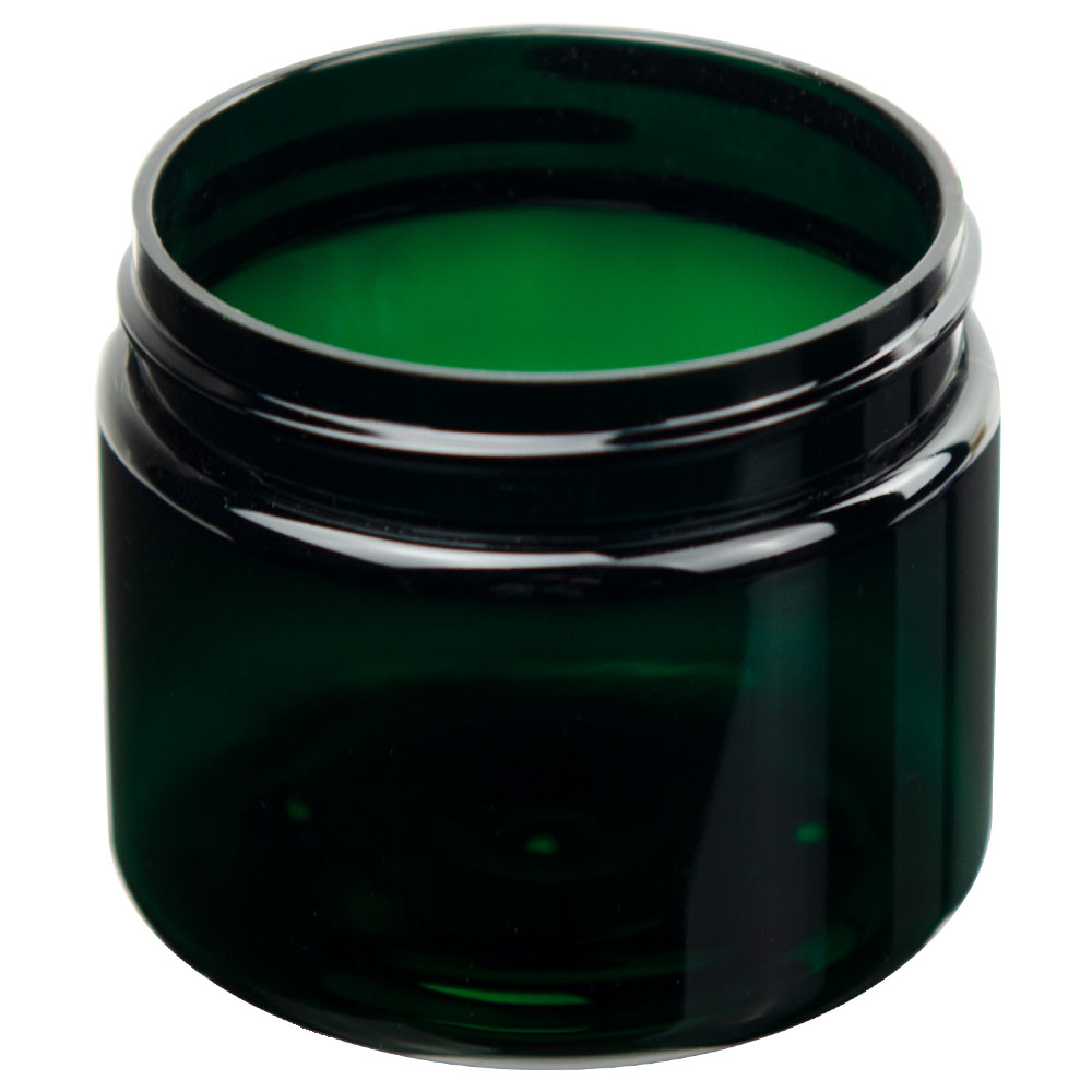3 oz. Dark Green PET Straight Sided Jar with 58/400 Neck (Cap Sold Separately)