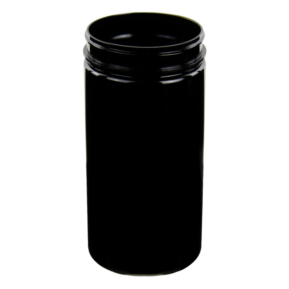 32 oz. Black PET Straight Sided Jar with 89/400 Neck (Cap Sold Separately)